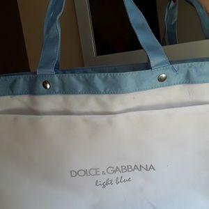 Dolce & Gabbana 💙Light Blue logo White tote bag